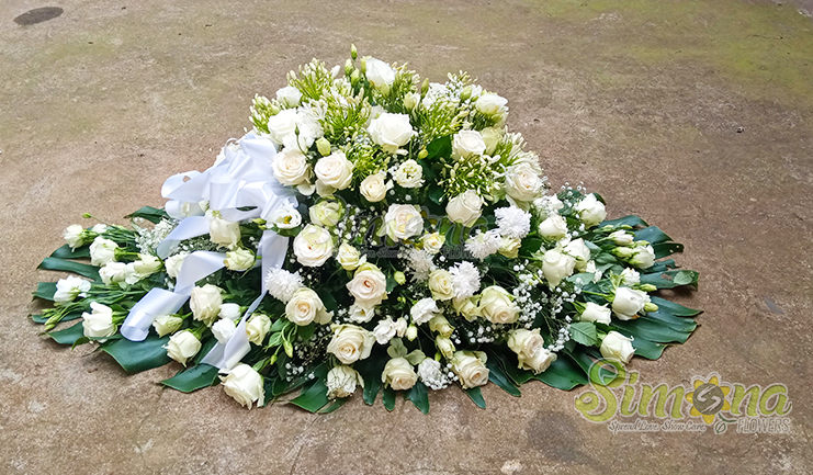 Cherished Friend casket flower arrangement by Simona Flowers