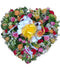 Peaceful Passage heart wreath