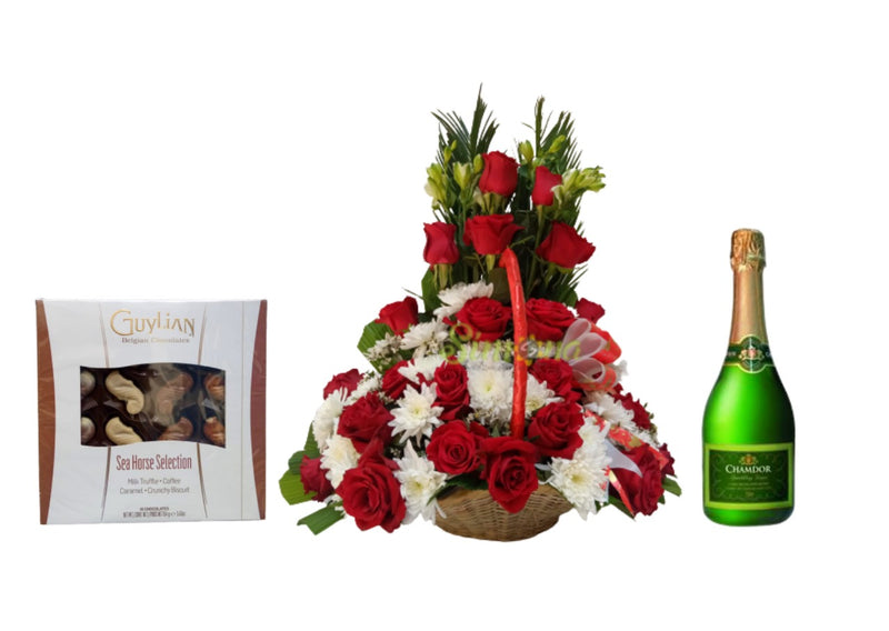 Luxury basket Chamdor and chocolates