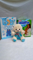 So sweet new baby package of diapers and teddy bear by Simona Flowers
