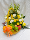 Tasty fruit and flowers basket assortment by Simona Flowers