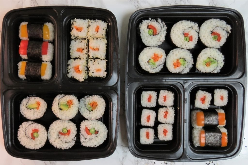 sushi meal prep containers