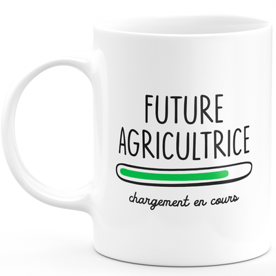 Mug future agricultrice chargement en cours - cadeau pour les futures agricultrice