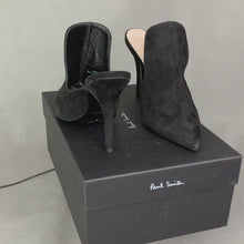 Load and play video in Gallery viewer, PAUL SMITH Ladies Black Azzura High Heels - Size 38 - UK 5