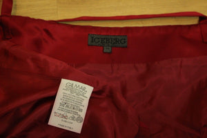 ICEBERG Beautiful Rich Red Strappy Party Top - Size 44 - UK 12