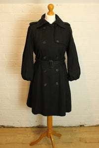 ALLSAINTS Ladies Black LEONDA COAT Size UK 10 - ALL SAINTS