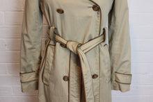 Load image into Gallery viewer, ANYA HINDMARCH 100% Cotton Leather Trimmed Mac / Trench Coat / Jacket - Size Small - S