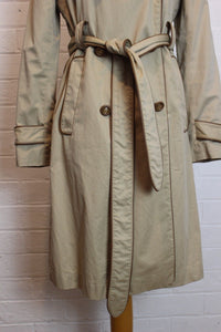 ANYA HINDMARCH 100% Cotton Leather Trimmed Mac / Trench Coat / Jacket - Size Small - S