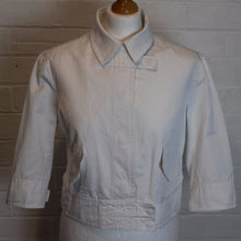 Load image into Gallery viewer, HUGO BOSS Ladies White JAVY Cropped Jacket / Coat Size UK 14 - IT 46 - US 12