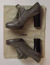 Load image into Gallery viewer, CHLOÉ Oxford High Heeled Calf Leather Lace-Up Platform Pumps Size 36.5 - Chloe