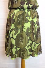 Load image into Gallery viewer, MOSCHINO Ladies Green 100% Silk Floral Pattern Dress - Size IT 42 - UK 10