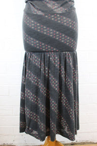DIESEL Ladies Grey Patterned Maxi Dress - Size S - Small