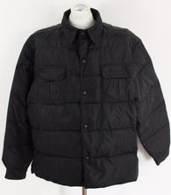 "Load image into Gallery viewer, ARMANI Black GOOSE DOWN Filled COAT / JACKET Size IT 50 - 40"" Chest L Large"