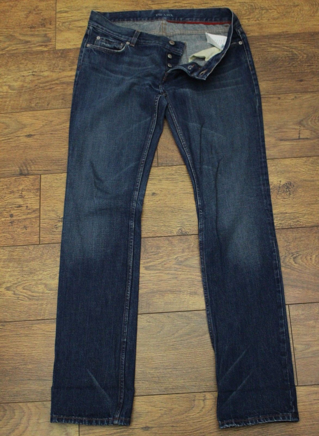 PRADA Ladies Blue Denim Straight Leg JEANS Size 31