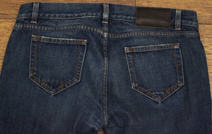 "PRADA Ladies Blue Denim Straight Leg JEANS Size 31"" Waist - Leg 36"""
