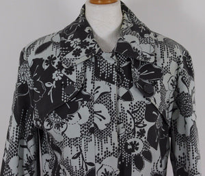 TED BAKER Ladies LAPPET Floral Pattern TRENCH COAT  Ted Size 3 - UK 12  M Medium
