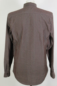 TED BAKER Mens Long Sleeved Striped SHIRT - Ted Size 4 - Large - L