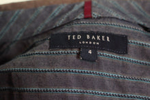 Load image into Gallery viewer, TED BAKER Mens Long Sleeved Striped SHIRT - Ted Size 4 - Large - L