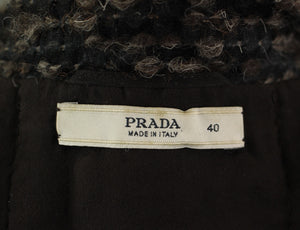 PRADA Ladies STUNNING Silk & Wool Blend JACKET / Coat / Blazer - Size IT 40 - UK 8