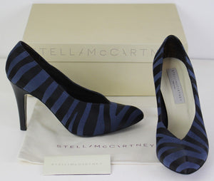 STELLA McCARTNEY Zebra Print KIRIT Court Shoe HEELS Size 37.5 - UK 4.5 - US 7.5