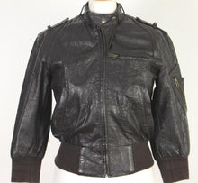 Load image into Gallery viewer, ALLSAINTS Ladies LEATHER BOMBER JACKET / COAT - Size Small - S ALL SAINTS