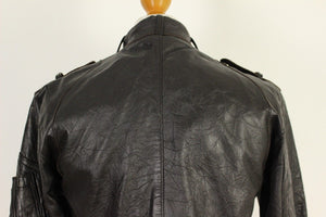 ALLSAINTS Ladies LEATHER BOMBER JACKET / COAT - Size Small - S ALL SAINTS