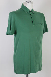 TED BAKER London Mens Green BANKMAX POLO SHIRT - Ted Size 3 - Medium - M