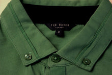 Load image into Gallery viewer, TED BAKER London Mens Green BANKMAX POLO SHIRT - Ted Size 3 - Medium - M