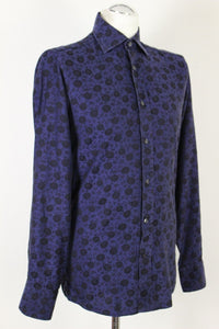 "DUCHAMP London Floral Pattern SLIM FIT SHIRT - Size 15"" Collar - 38 cm"