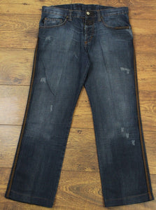 "ROBERTO CAVALLI Ladies Blue Denim Straight Leg JEANS Waist 32"" - IT 46 - Leg 28"""