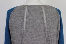Load image into Gallery viewer, HELMUT LANG Ladies Blue and Grey Knitted JUMPER - Size Medium - M