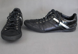 DIOR HOMME Black Calfskin B18 SIGNATURE Lace-Up Trainers / Shoes - Size 38 UK 5