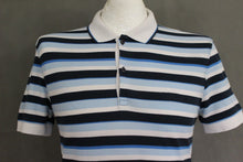Load image into Gallery viewer, HUGO BOSS Mens Blue Striped REGULAR FIT FIRENZE POLO SHIRT - Size Small - S