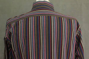 ETRO MILANO Mens Stripe Pattern SHIRT - ETRO Size 39 - Medium - M  Made in Italy