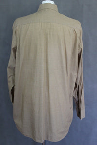 BURBERRY LONDON Mens Light Brown SHIRT - EU 43 - Extra Large - XL