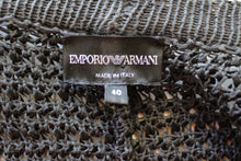 Load image into Gallery viewer, EMPORIO ARMANI Ladies Dark Grey Open Knit CARDIGAN - Size IT 40 - UK 8