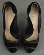 Load image into Gallery viewer, HERVE LEGER Ladies Black Open Toe COURT SHOES / PUMPS - Size EU 37 - UK 4 - US 6