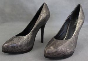 ALLSAINTS Grey COURT SHOES / PUMPS / HEELS - Size EU 40 - UK 7 - US 9 ALL SAINTS