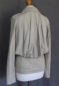 ALLSAINTS Ladies Beige DARCY LEATHER JACKET Size UK 10 - US 8 - EU 38 ALL SAINTS
