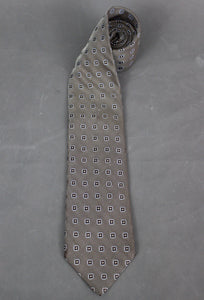 ERMENEGILDO ZEGNA Mens 100% SILK Patterned TIE