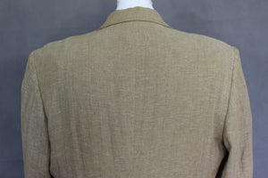 "MULBERRY Mens 100% Linen Herringbone BLAZER / Tailored Jacket - Size UK 40"" Chest"