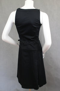 TED BAKER Ladies ROSELLA Belted Black DRESS - Ted Size 1 - UK 8 - XS Extra Small
