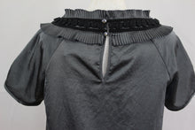Load image into Gallery viewer, RESERVED Ladies Grey TOP with Neckline Embellishment - Size 38 - UK 10