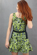 Load image into Gallery viewer, PINKO TAG Ladies Green & Black Party DRESS Size IT 42 - UK 10 - US 6
