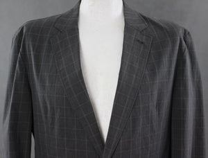 "HUGO BOSS Mens CRENKO Cotton Blend Grey Checked BLAZER / SPORTS JACKET Size IT 50 - UK 40"" Chest"