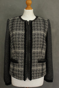 MAXMARA WEEKEND Ladies Monochrome JACKET / COAT Size UK 10 - IT 42 MAX MARA