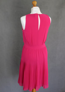 ARMANI Ladies Pink Pleat Detail Sleeveless DRESS Size US 4 - IT 38 - UK 6