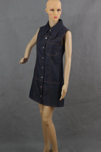 ALEXANDER McQUEEN Ladies Denim DRESS & JEANS 2 PIECE OUTFIT - Size IT 38 / IT 36