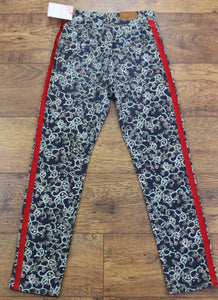 ISABEL MARANT ÉTOILE Ladies Patterned Soft Denim JEANS Size FR 34 - UK 6