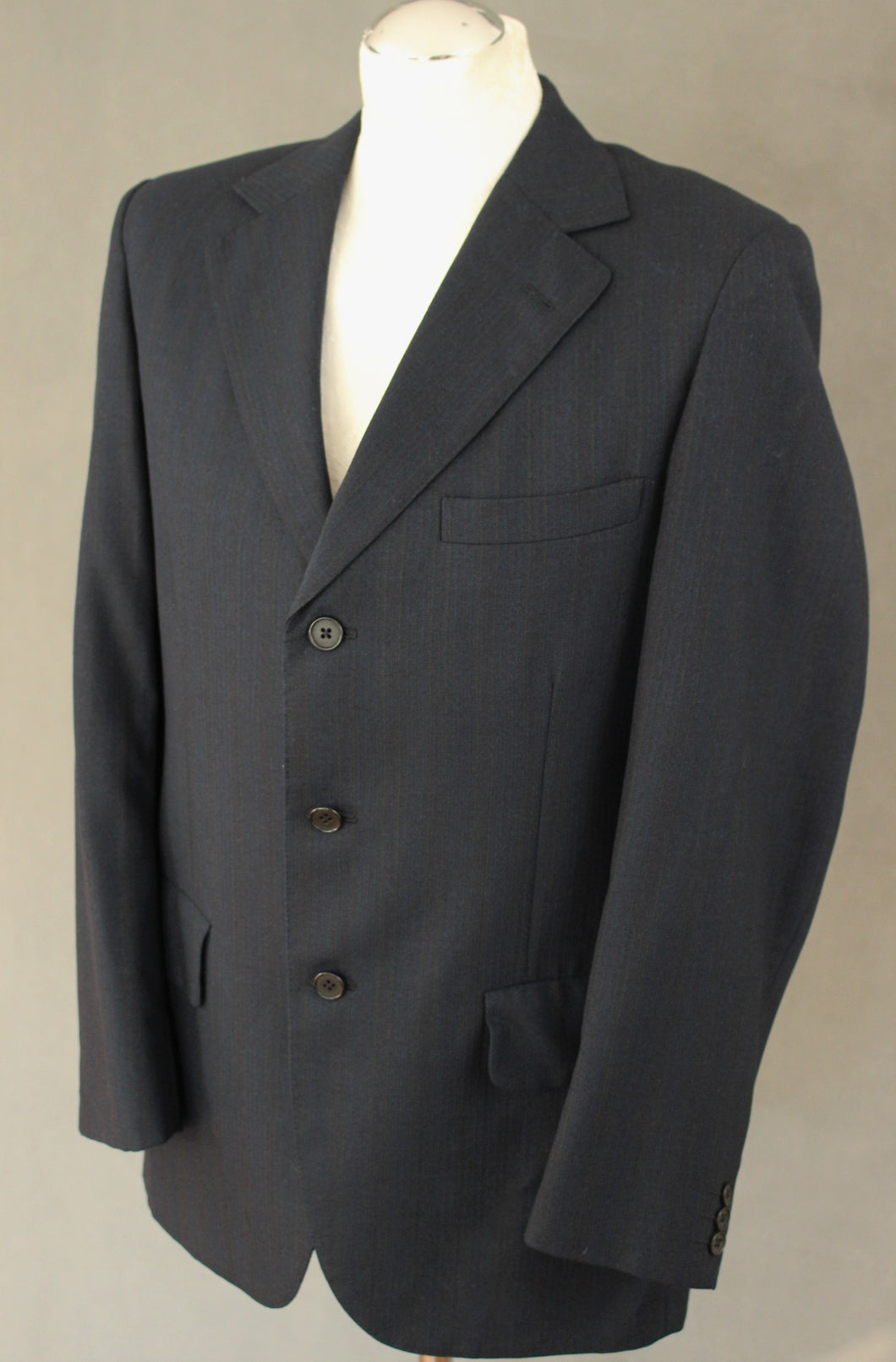 AQUASCUTUM Mens Dark Navy 2 PIECE SUIT Size 38R 38